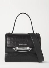 Alexander McQueen The Story Small Croc-effect Leather Shoulder Bag