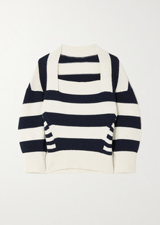 Alexander McQueen Striped Wool And Cashmere-blend Sweater