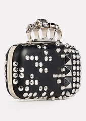 Alexander McQueen Studded Leather Four Ring Clutch