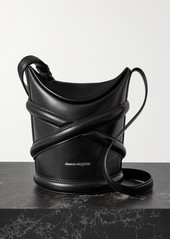 Alexander McQueen The Curve Small Leather Bucket Bag