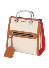 Alexander McQueen The Short Story Canvas & Leather Tote