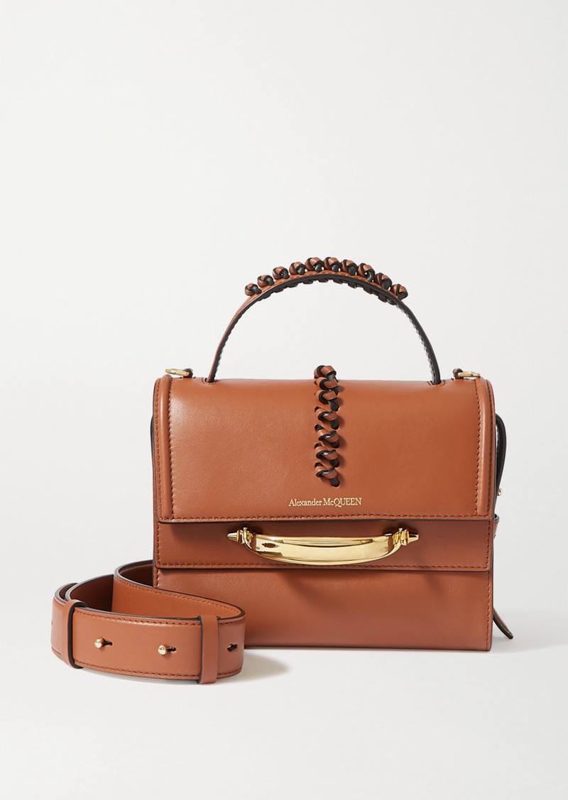 Alexander McQueen The Story Braided Leather Shoulder Bag