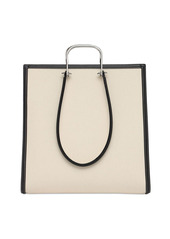 Alexander McQueen The Tall Story Canvas & Leather Tote Bag