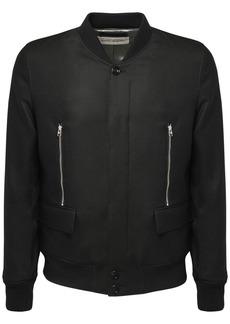 Alexander McQueen Wool & Mohair Bomber Jacket W/ Zip