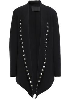 Alexander Wang Woman Button-embellished Wool-blend Crepe Jacket Black