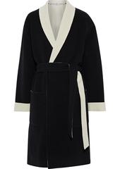 Alexander Wang Woman Intarsia Wool Robe Black