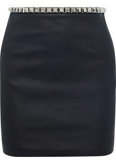 Alexander Wang Woman Studded Leather Mini Skirt Black