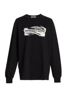 Alexander Wang Soap Suds Print Long-Sleeve Cotton T-Shirt