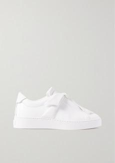 Alexandre Birman Clarita Bow-embellished Leather Slip-on Sneakers