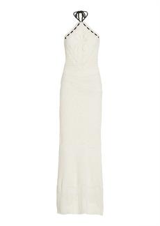 Alexis - Women's Ibada Cotton Halter Maxi Dress - White - Moda Operandi