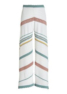Alexis - Women's Saloni Striped Knit Cropped Pants - Multi - Moda Operandi