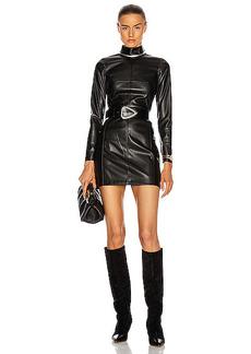 Alexis Misake Vegan Leather Dress