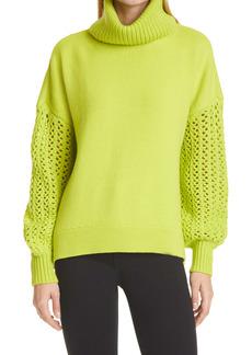 Alice + Olivia Adela Wool Blend Turtleneck Sweater