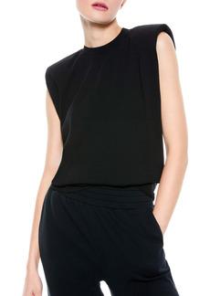 Alice + Olivia Braxton Padded Sleeveless T-Shirt