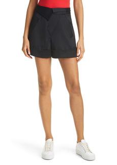 Alice + Olivia Chad Asymmetrical Cuff Cargo Shorts