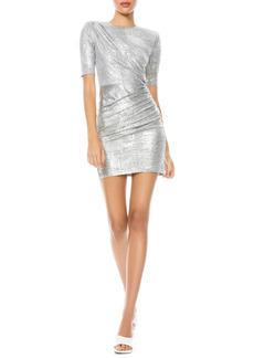 Alice + Olivia Delora Ruched Minidress