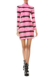 Alice + Olivia Delora Tie Dye Long Sleeve Body-Con Dress