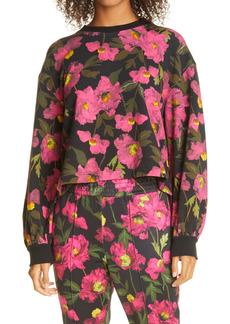 Alice + Olivia Floral Blouson Sleeve Sweatshirt