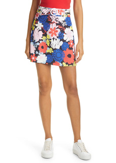 Alice + Olivia Freya Floral Piped Belt Miniskirt