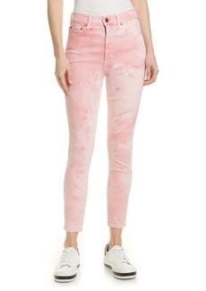 Alice + Olivia Good High Waist Skinny Jeans (Crystal Cloud Pink)