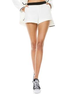 Alice + Olivia Hettie Contrast Waist Cuff Shorts