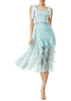 Alice + Olivia Jocelyn Floral Smocked Midi Dress