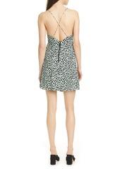 Alice + Olivia Katie Cheetah Wrap Front Minidress