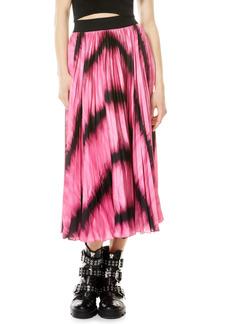 Alice + Olivia Katz Tie Dye Sunburst Pleated Skirt
