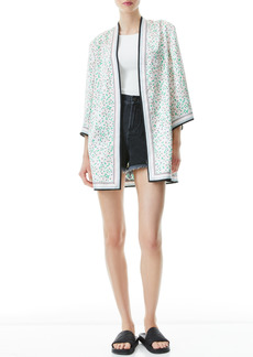 Alice + Olivia Koko Print Reversible Open Front Jacket