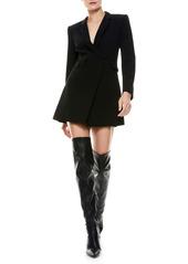 Alice + Olivia Kyrie Tuxedo Long Sleeve Romper