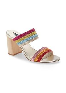 Alice + Olivia Loni Metallic Braided Strap Sandal (Women)