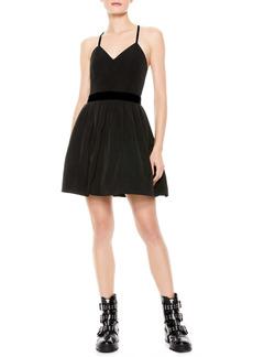 Alice + Olivia Madison Pleated Fit & Flare Minidress