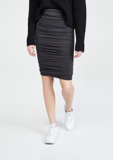 alice + olivia Melanie Fitted Shirred Skirt