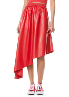 Alice + Olivia Natalina Asymmetrical Hem Faux Leather Skirt