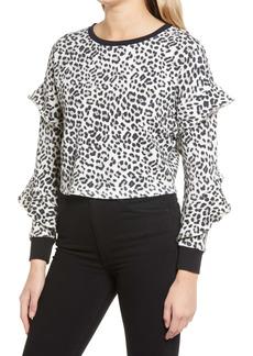 Alice + Olivia Nettie Ruffle Sleeve Pullover