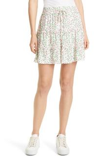 Alice + Olivia Vinita Tiered Floral Miniskirt