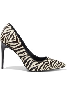 Alice + Olivia Woman Creda Zebra-print Calf Hair Pumps Animal Print