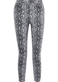 Alice + Olivia Woman Good Cropped Snake-print High-rise Skinny Jeans Animal Print