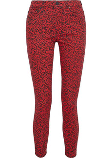 Alice + Olivia Woman Good Leopard-print High-rise Skinny Jeans Red