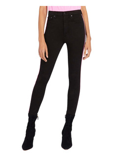 Alice + Olivia Good High Rise Side Piping Skinny Jeans