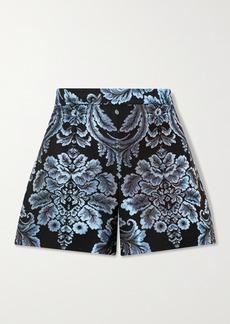 Alice + Olivia Hera Brocade Shorts