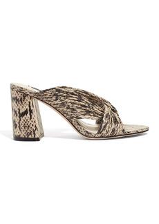 Alice + Olivia Landri Leather Strappy Block Heel Sandal