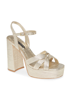 Alice + Olivia Veren Leather Platform Sandal
