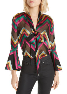 Women's Alice + Olivia Meredith Bow Blouse