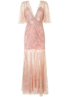 Alice McCall embroidered metallic-thread maxi dress