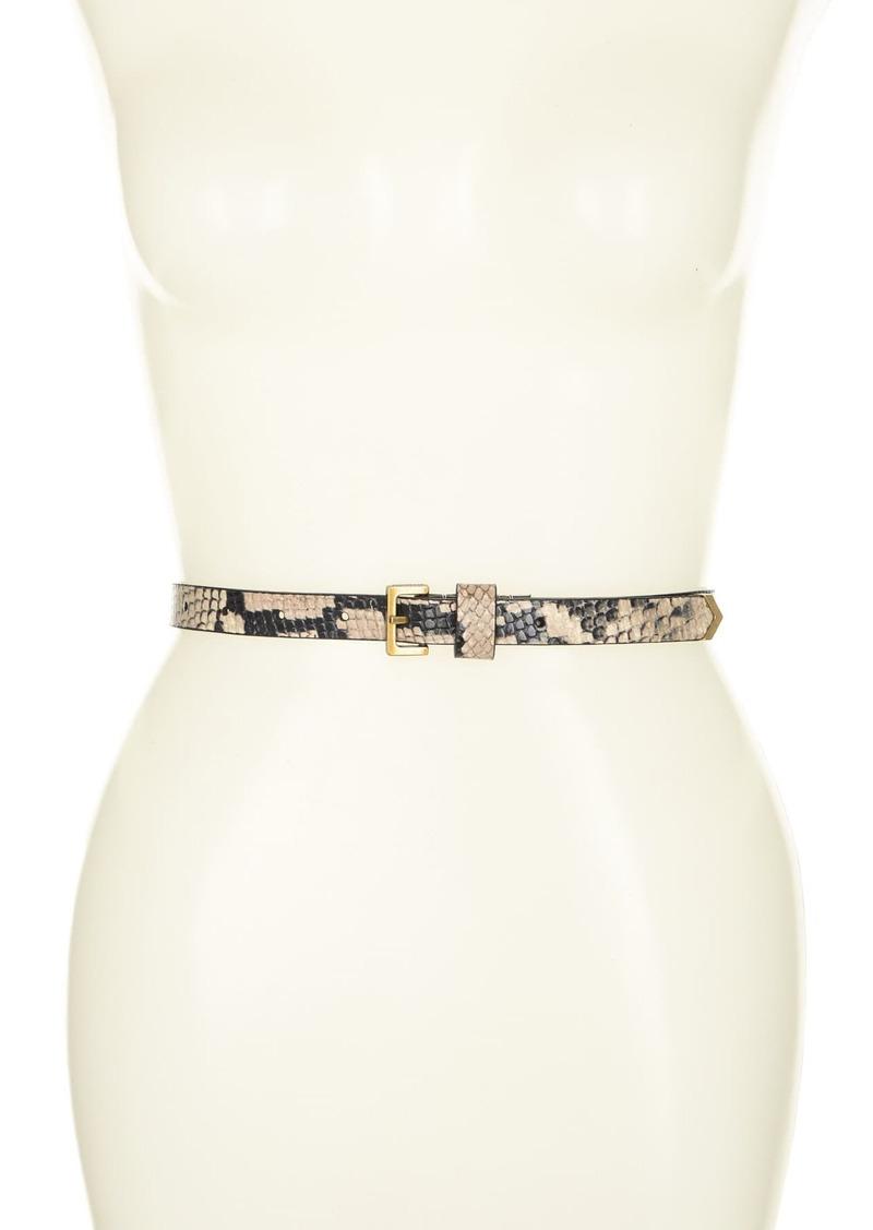 AllSaints 18mm Metal Tip Belt