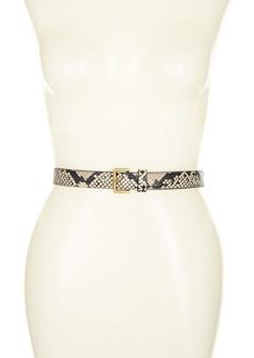 AllSaints 25mm Snake Embossed Leather Belt