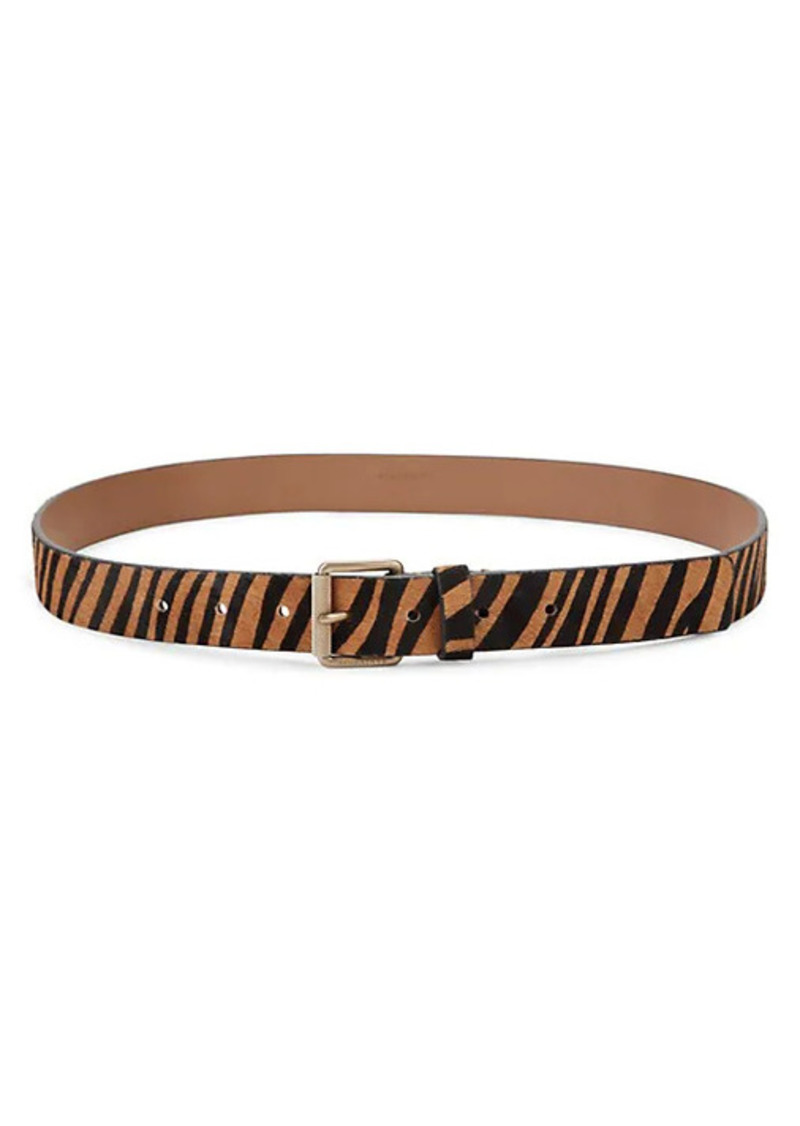 AllSaints Alice Cow Hair Belt