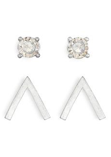 AllSaints 2-Pair Arrow & Stone Stud Earrings