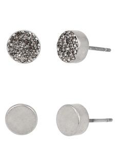 AllSaints 2-Pair Smooth & Pavé Stud Earrings